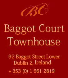 Baggot Court Townhouse Hotel Dublin Ireland, Bed and Breakfast